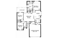 European Floor Plan - Main Floor Plan Plan #42-515