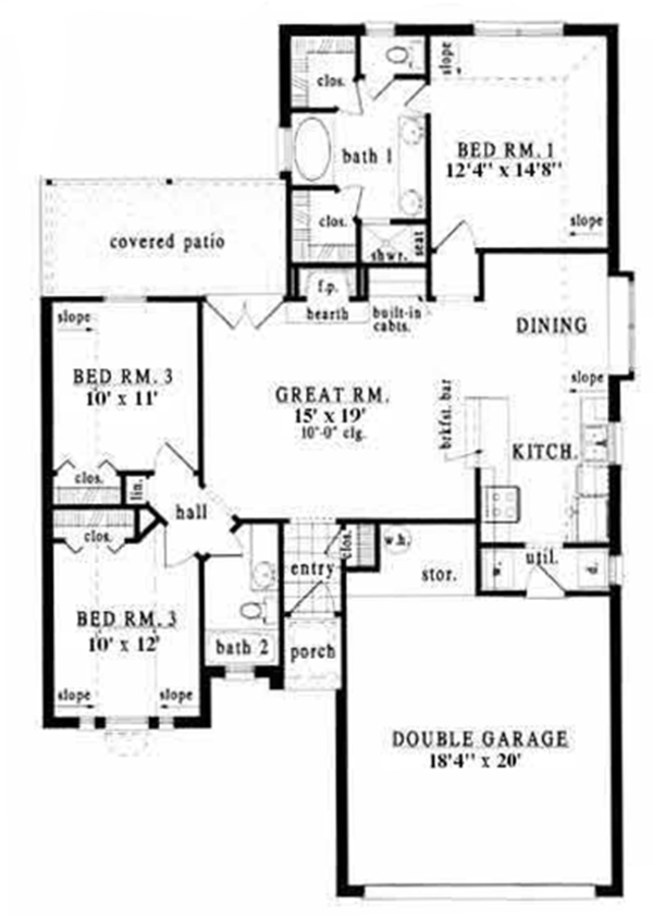 European Floor Plan - Main Floor Plan Plan #42-515