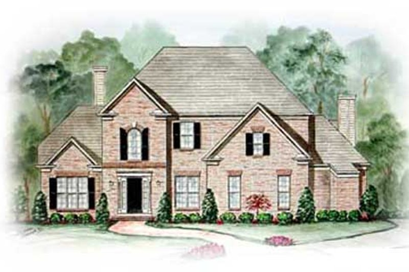 Traditional Exterior - Front Elevation Plan #54-155 - Houseplans.com