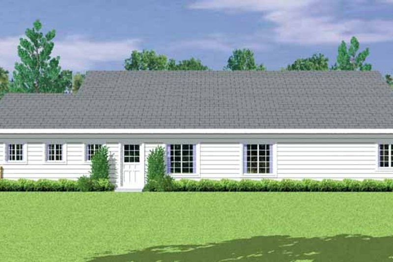 Country Exterior - Other Elevation Plan #72-1081 - Houseplans.com