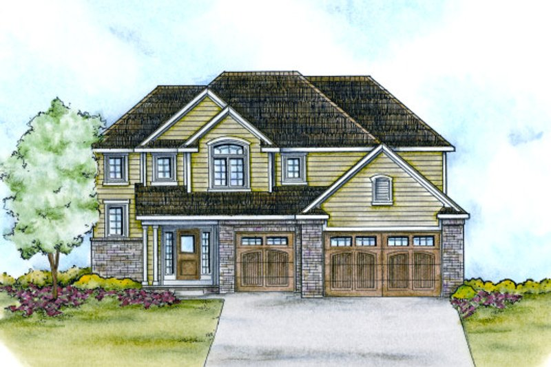 Home Plan - Traditional Exterior - Front Elevation Plan #20-2112