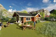 Cabin Style House Plan - 3 Beds 1 Baths 1427 Sq/Ft Plan #549-25 Exterior - Rear Elevation