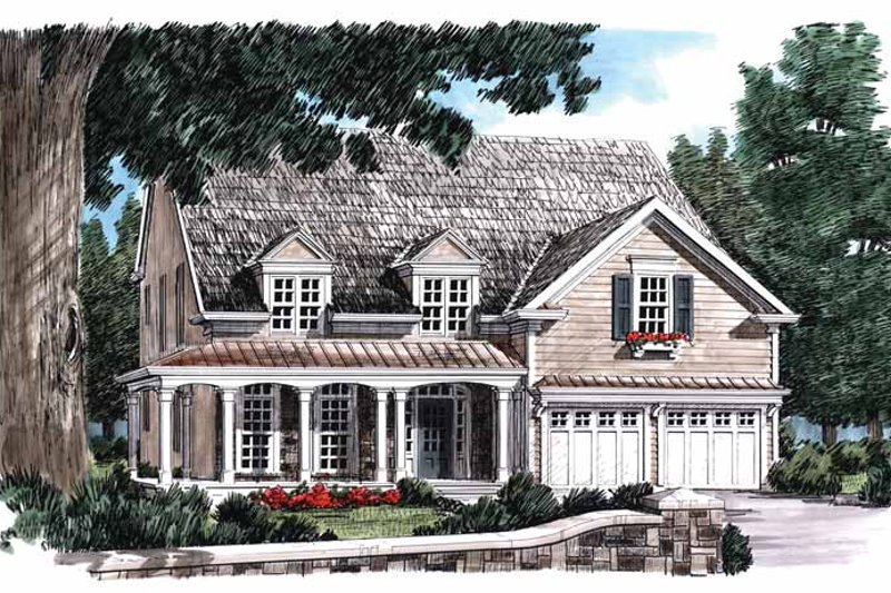 Country Exterior - Front Elevation Plan #927-707