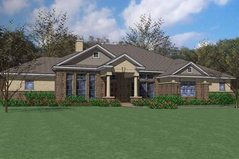 European Exterior - Front Elevation Plan #120-227 - Houseplans.com