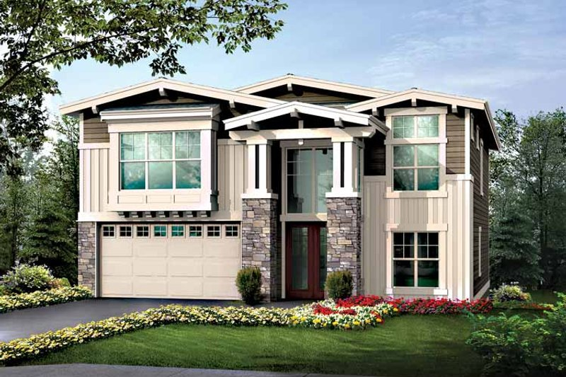 Craftsman Exterior - Front Elevation Plan #132-427