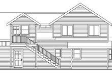 Home Plan - Craftsman Exterior - Rear Elevation Plan #124-623