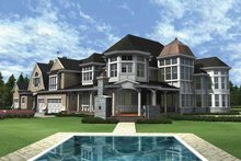 Home Plan - Craftsman Exterior - Rear Elevation Plan #132-353