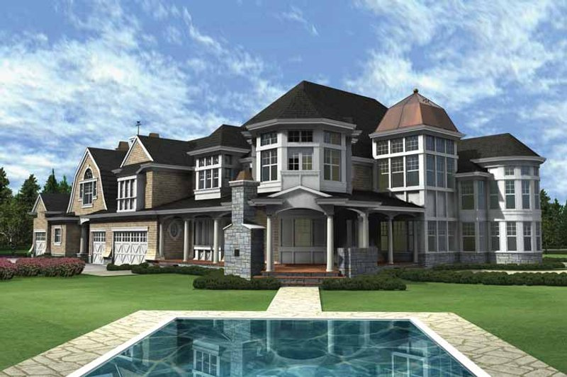 Craftsman Exterior - Rear Elevation Plan #132-353 - Houseplans.com