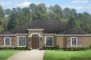 Mediterranean Style House Plan - 3 Beds 2.5 Baths 2468 Sq/Ft Plan #1058-125 Exterior - Front Elevation