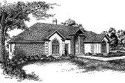 European Style House Plan - 4 Beds 2.5 Baths 3184 Sq/Ft Plan #322-116 Exterior - Front Elevation
