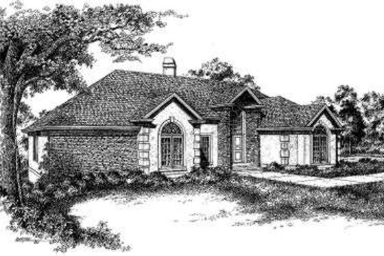 European Exterior - Front Elevation Plan #322-116
