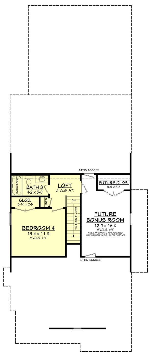 Farmhouse Floor Plan - Upper Floor Plan #430-243