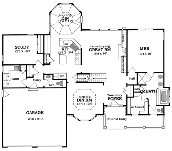 Country Floor Plan - Main Floor Plan Plan #316-186