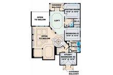 Mediterranean Floor Plan - Upper Floor Plan Plan #1017-16