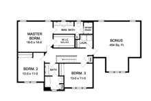 Colonial Floor Plan - Upper Floor Plan Plan #1010-83