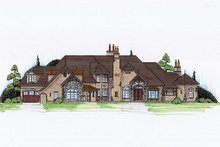 Home Plan - European Exterior - Front Elevation Plan #5-448
