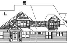 Dream House Plan - Craftsman Exterior - Rear Elevation Plan #124-761
