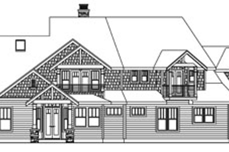 Craftsman Exterior - Rear Elevation Plan #124-761 - Houseplans.com