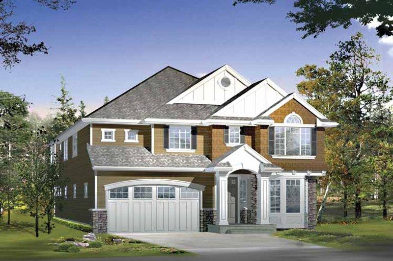 Craftsman Exterior - Front Elevation Plan #132-422