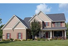 Architectural House Design - Traditional Exterior - Front Elevation Plan #51-1075