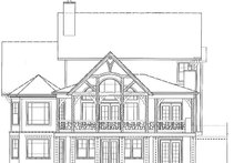 Craftsman Exterior - Rear Elevation Plan #54-374