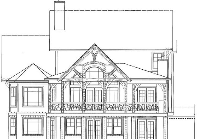 Craftsman Exterior - Rear Elevation Plan #54-374 - Houseplans.com