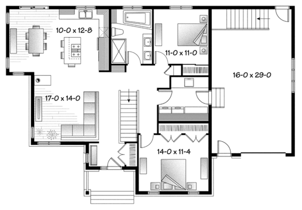 Country Floor Plan - Main Floor Plan Plan #23-2570