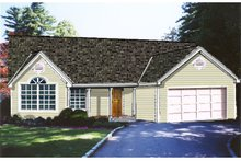 Country Exterior - Front Elevation Plan #3-241