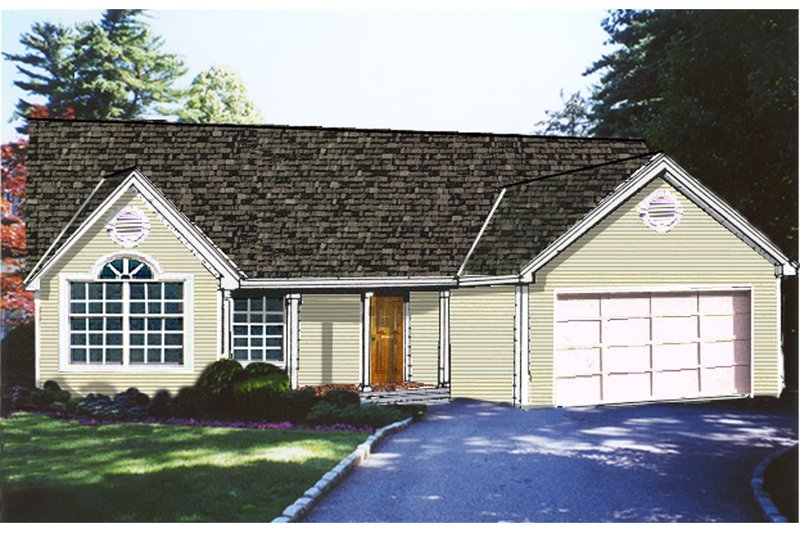 Home Plan - Country Exterior - Front Elevation Plan #3-241