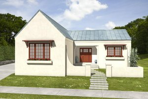 Home Plan - Adobe / Southwestern Exterior - Front Elevation Plan #497-60