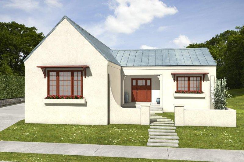 House Blueprint - Adobe / Southwestern Exterior - Front Elevation Plan #497-60