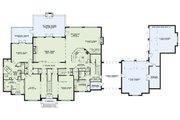 European Style House Plan - 4 Beds 4.5 Baths 6674 Sq/Ft Plan #17-2570 Floor Plan - Main Floor Plan