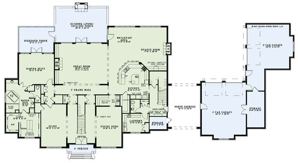 European Floor Plan - Main Floor Plan Plan #17-2570