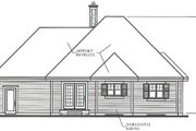 Country Style House Plan - 2 Beds 1 Baths 1191 Sq/Ft Plan #23-1011 Exterior - Rear Elevation