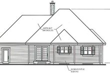 Home Plan Design - Country Exterior - Rear Elevation Plan #23-1011