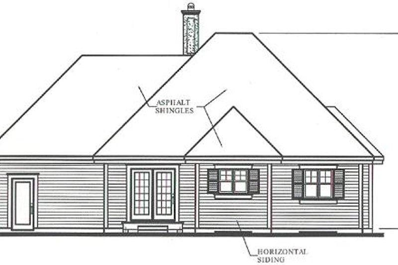 Country Exterior - Rear Elevation Plan #23-1011 - Houseplans.com
