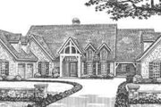 European Style House Plan - 4 Beds 4.5 Baths 5177 Sq/Ft Plan #310-346 Exterior - Front Elevation