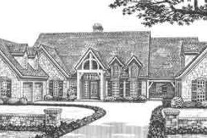 European Exterior - Front Elevation Plan #310-346