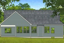 House Plan Design - Ranch Exterior - Rear Elevation Plan #1010-200