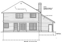 House Plan Design - Traditional Exterior - Rear Elevation Plan #90-203