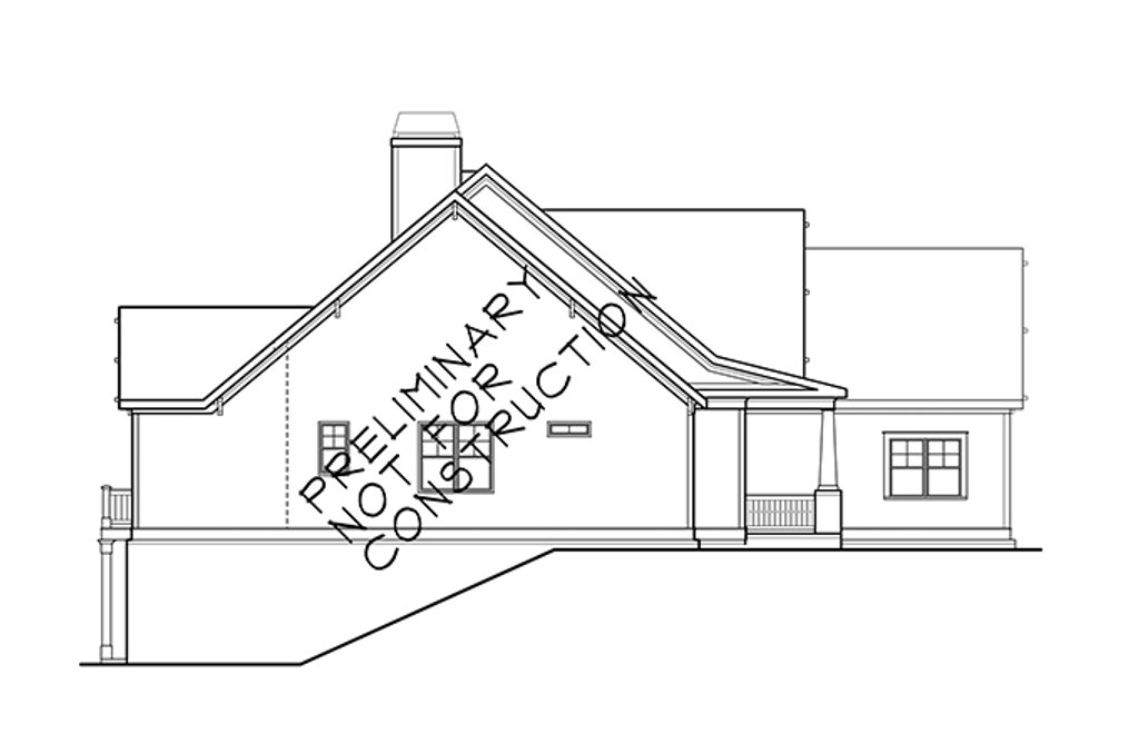 bungalow style house plan - 4 beds 3 baths 2336 sq  ft plan  927-418