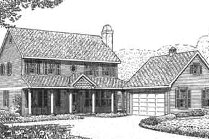 Tudor Exterior - Front Elevation Plan #410-375