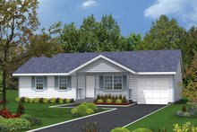 House Design - Ranch Exterior - Front Elevation Plan #57-107