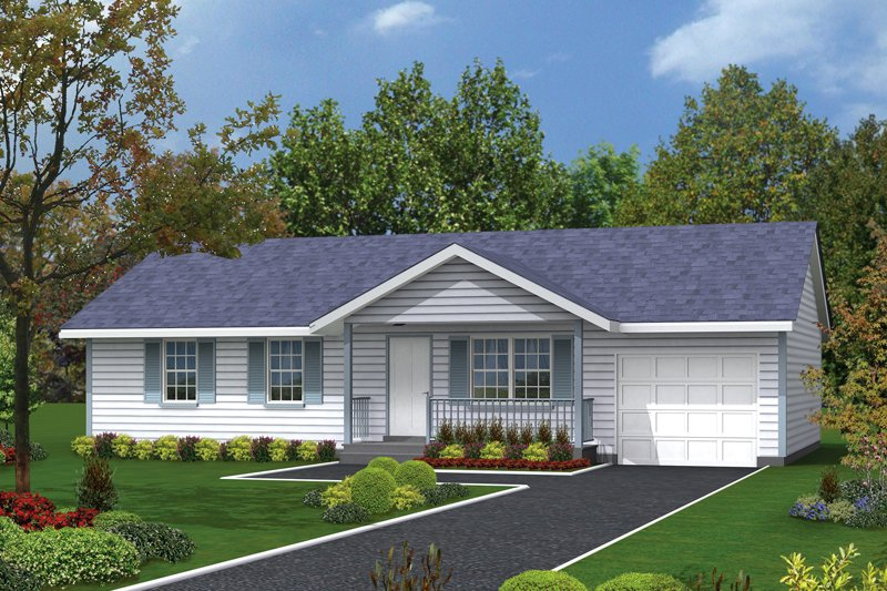 Ranch Exterior - Front Elevation Plan #57-107