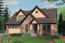 Home Plan - Front View - 2300 square foot Traditional home