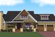 Craftsman Style House Plan - 3 Beds 2 Baths 1857 Sq/Ft Plan #51-518 Exterior - Front Elevation