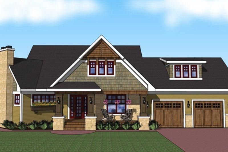 Craftsman Exterior - Front Elevation Plan #51-518 - Houseplans.com
