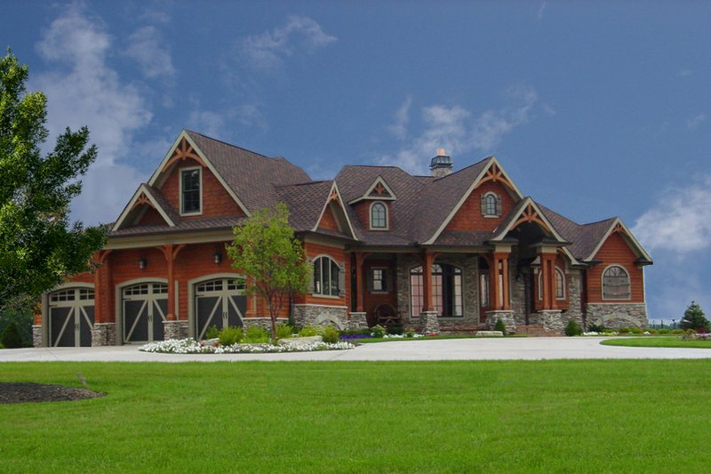 Dream House Plan - Craftsman Exterior - Front Elevation Plan #54-385