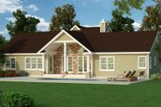 Country Style House Plan - 3 Beds 2.5 Baths 2310 Sq/Ft Plan #456-24 Exterior - Rear Elevation