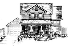 Country Exterior - Front Elevation Plan #410-305
